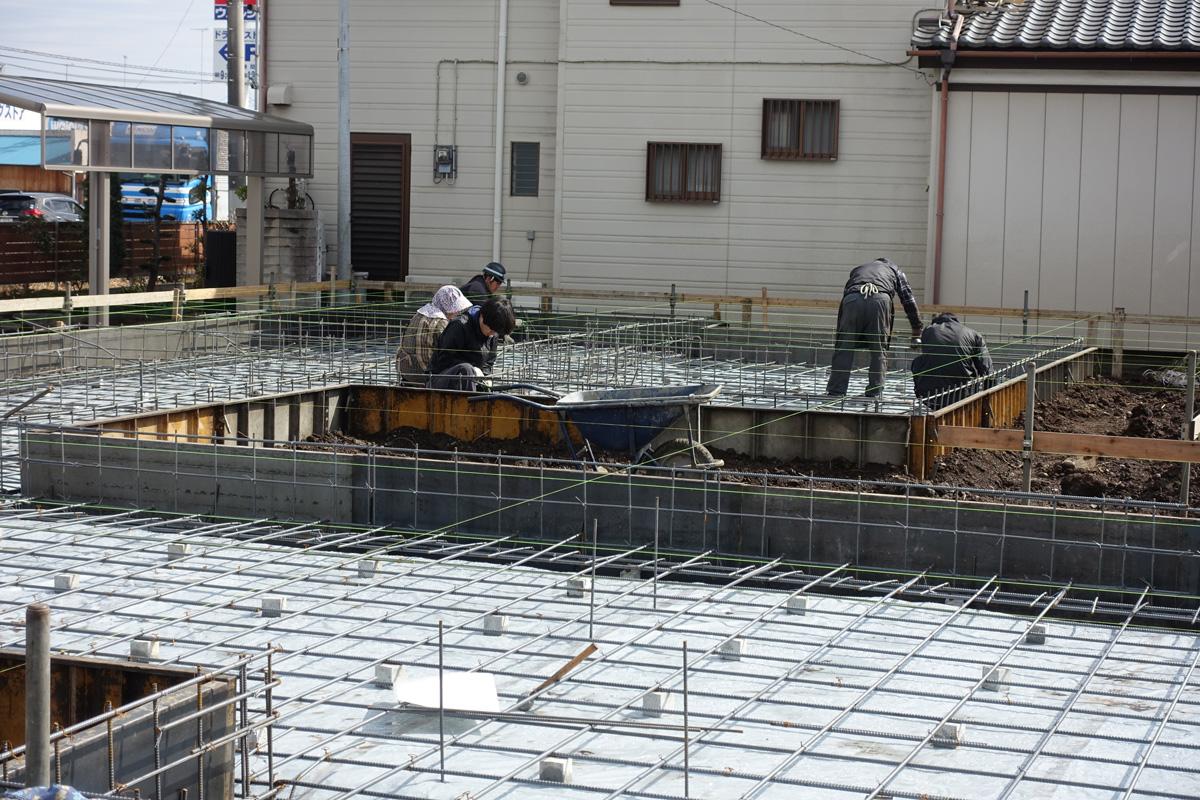 基礎鉄筋施工